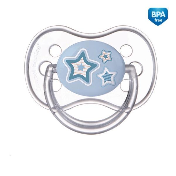 CANPOL BABIES Smoczek silikonowy 0-6m okrągły 22/562 Newborn Baby