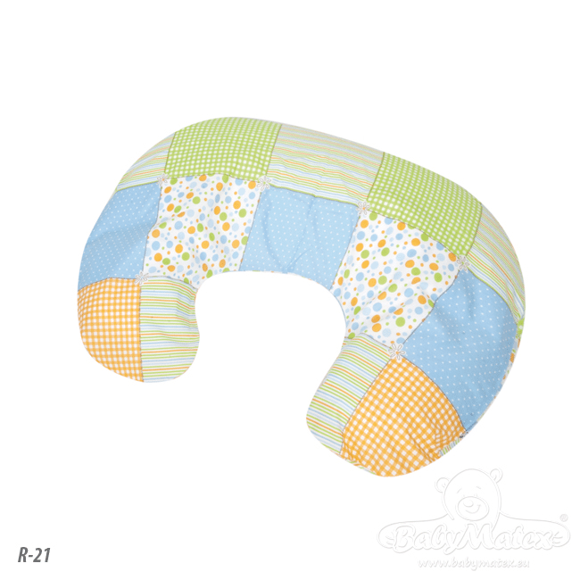 BABY MATEX Poduszka do karmienia miniRELAX z tkaniny bawełnianej