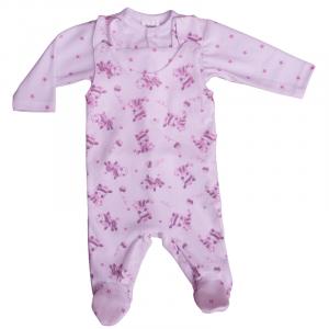 SZWAT Komplet niemowlęcy 2326-A śpioch + kaftan 56-62cm