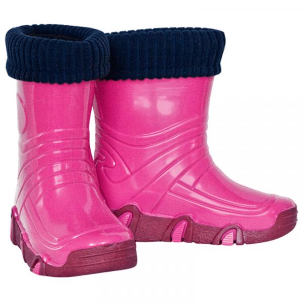 Kalosze dziecięce Wodnik Różowy z wkładem ocieplanym 21-30 ZETPOL