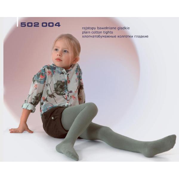 Rajstopy dziecięce bawełniane gładkie 502 004 REWON 56-134cm
