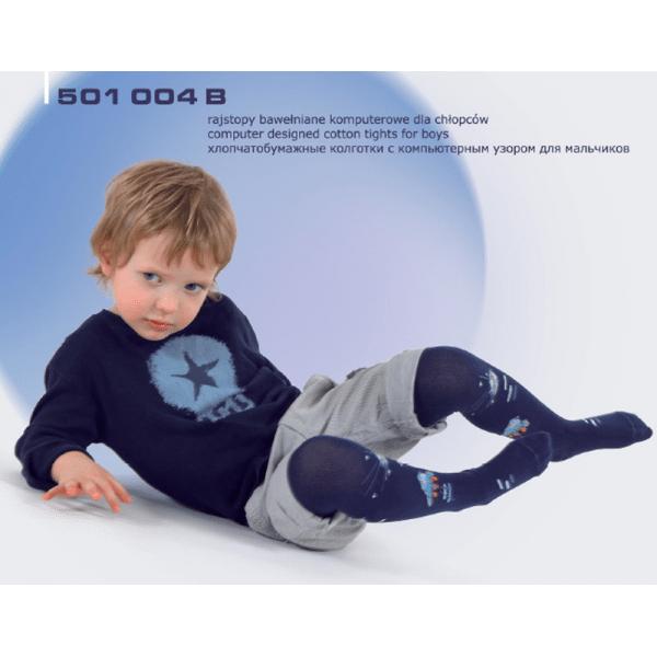 Rajstopy bawełniane komputerowe dla chłopców 501 004B REWON 56-134cm