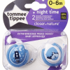 TOMMEE TIPPEE Smoczki uspokajające NIGHT TIME 0-6m