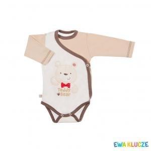 EWA KLUCZE Body Tedy Bear reglan długi rękaw 56-62cm