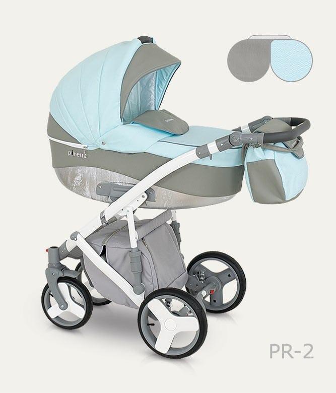 CAMARELO PIREUS Wózek dziecięcy wielofunkcyjny 2w1 lub 3w1
