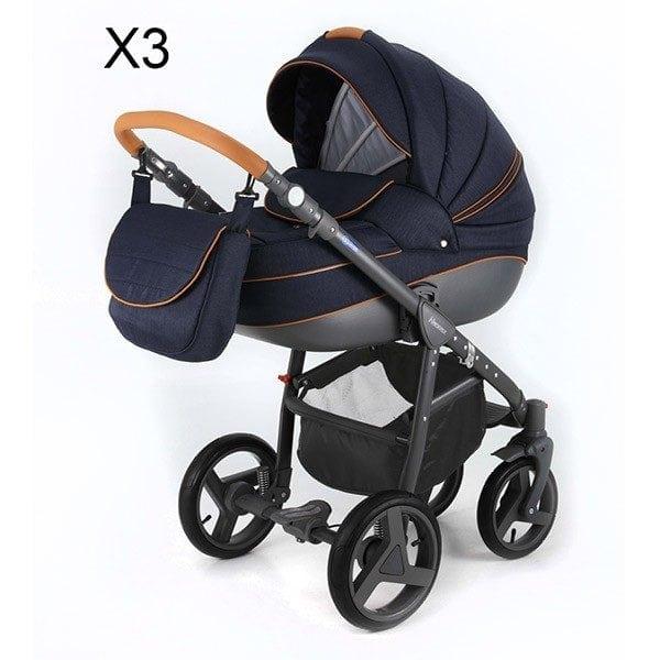 ADAMEX NEONEX ALFA Wielofunkcyjny wózek dziecięcy 2w1 lub 3w1